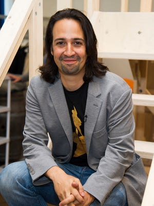Lin-Manuel Miranda, creator and star of the Broadway smash 'Hamilton,' will appear with other cast members on this year's Grammy Awards, via satellite.