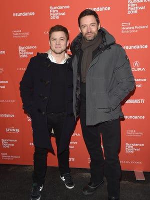Taron Egerton and Hugh Jackman host a secret screening of 'Eddie the Eagle'  during the Sundance Film Festival/
