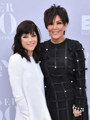 Kris Jenner, right, with Southfield native Selma Blair who portrays her in the 10-part FX series that begins Tuesday.