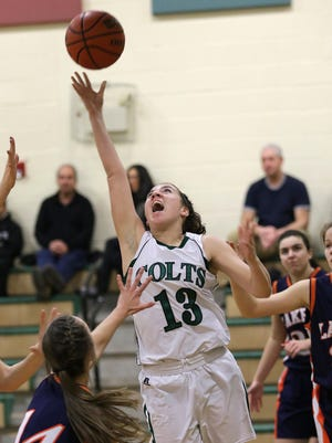 Kinnelon's Vanessa Knops goes to the basket against Mountain Lakes last season.