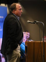 Director of pupil services for Wisconsin Rapids Public Schools Glen Haupt speaks during the Kids in Crisis town hall at McMillan Memorial Library in Wisconsin Rapids, Thursday, Feb. 25, 2016.