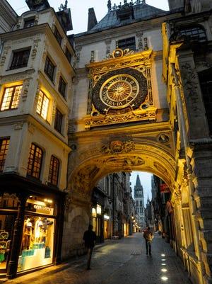 Rouen's clock tower.