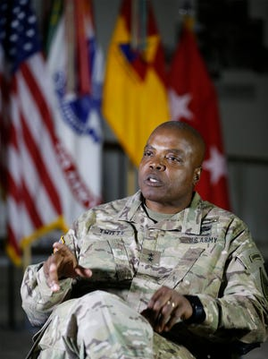 Maj. Gen. Stephen M. Twitty sat with members of the media for his exit interview as he prepares along with his family to make yet another change in his military career. He will relinquish command of Fort Bliss and the 1st Armored Division on June 15. He will assume command of First Army at Rock Island Arsenal, Ill., in July and be promoted to lieutenant general or a three-star general upon his arrival.