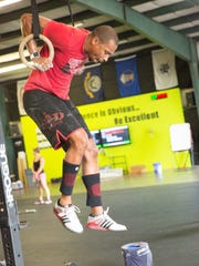 Donald Dee Basiste works out at CrossFit Clarksville.