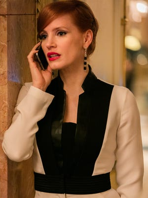 """Jessica Chastain stars in """"Miss Sloane,"""" directed by John Madden."""