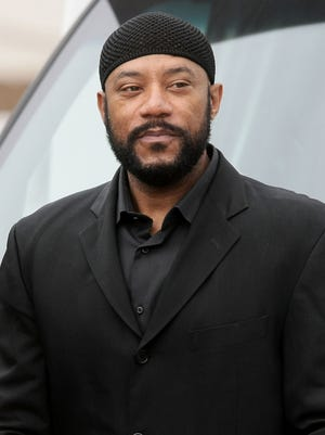 Actor Ricky Harris arrives at Nate Dogg aka Nathaniel Dwayne Hale's funeral service on March 26, 2011 in Long Beach, Cali.
