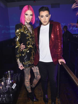 Beauty vlogger Manny Gutierrez, right, with Jeffree Star, is Maybelline's first male ambassador.