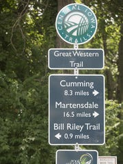 The Great Western Trail in the southern Des Moines metro area is just one portion of hundreds of miles of trails available to traverse in the region.