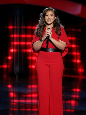 "Teaneck native Felicia Temple during the blind auditions at ""The Voice."""