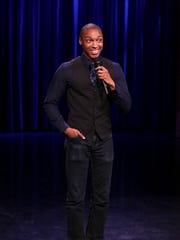 "Comedian Josh Johnson performs on ""The Tonight Show""  Feb. 22, 2017."