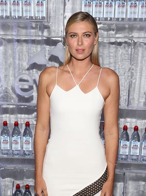 Maria Sharapova attends the Evian Brand Ambassador & 750 ml Sports Bottle Launch at HYDE Sunset: Kitchen + Cocktails on March 2 in West Hollywood, California.