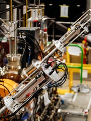 A section of a beamline at the Facility for Rare Isotope