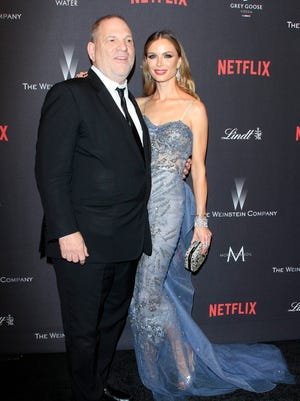 Weinstein and his fashion-designer wife, Georgina Chapman, hit the 2017 Weinstein Company-Netflix Golden Globes After-Party.