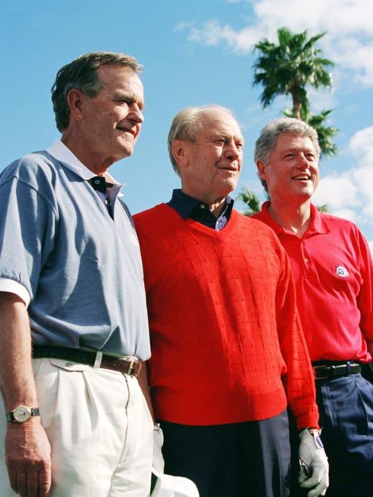 Bill Clinton, Ferald Ford. George H.W  Bush