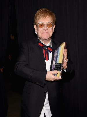 Elton John celebrated the 25th anniversary of his AIDS foundation on Nov. 7, 2017 in New York City.