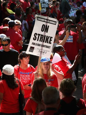 The Supreme Court is on the verge of dealing a major blow to public employee unions in states such as Illinois, where teachers went on strike in 2012.