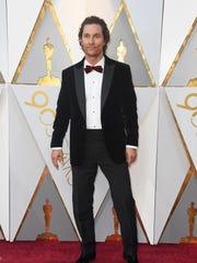 Matthew McConaughey en la Edición 90 de los Premios