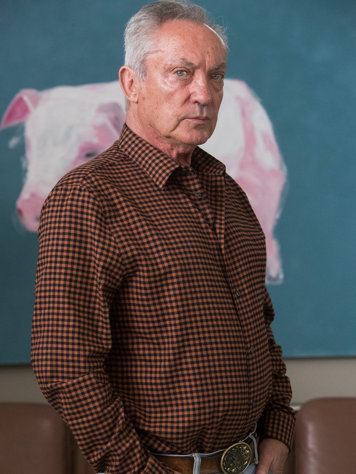 Udo Kier, a friend and collaborator of Andy Warhol is photographed at his home in the winter of 2018.