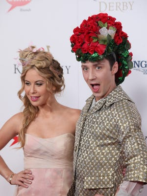 Frankie Steele/Special to The Courier-Journal Tara Lipinski and the always outrageous Jonny Weir. Tara Lipinski and Jonny Weir on the Kentucky Derby red carpet at Churchill Down in Louisville, KY. May 2, 2015