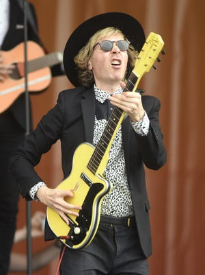 Beck performs during the New Orleans Jazz & Heritage Festival on May 4, 2018.