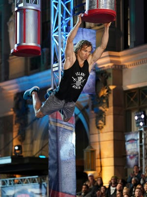 """Knoxville native Grant McCartney competes in the """"American Ninja Warrior"""" Los Angeles City Finals."""