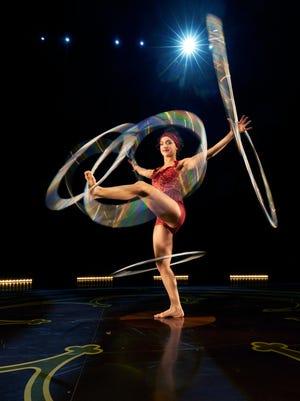 "Hula-hooping in Cirque du Soleil's ""Corteo,"" 2015"