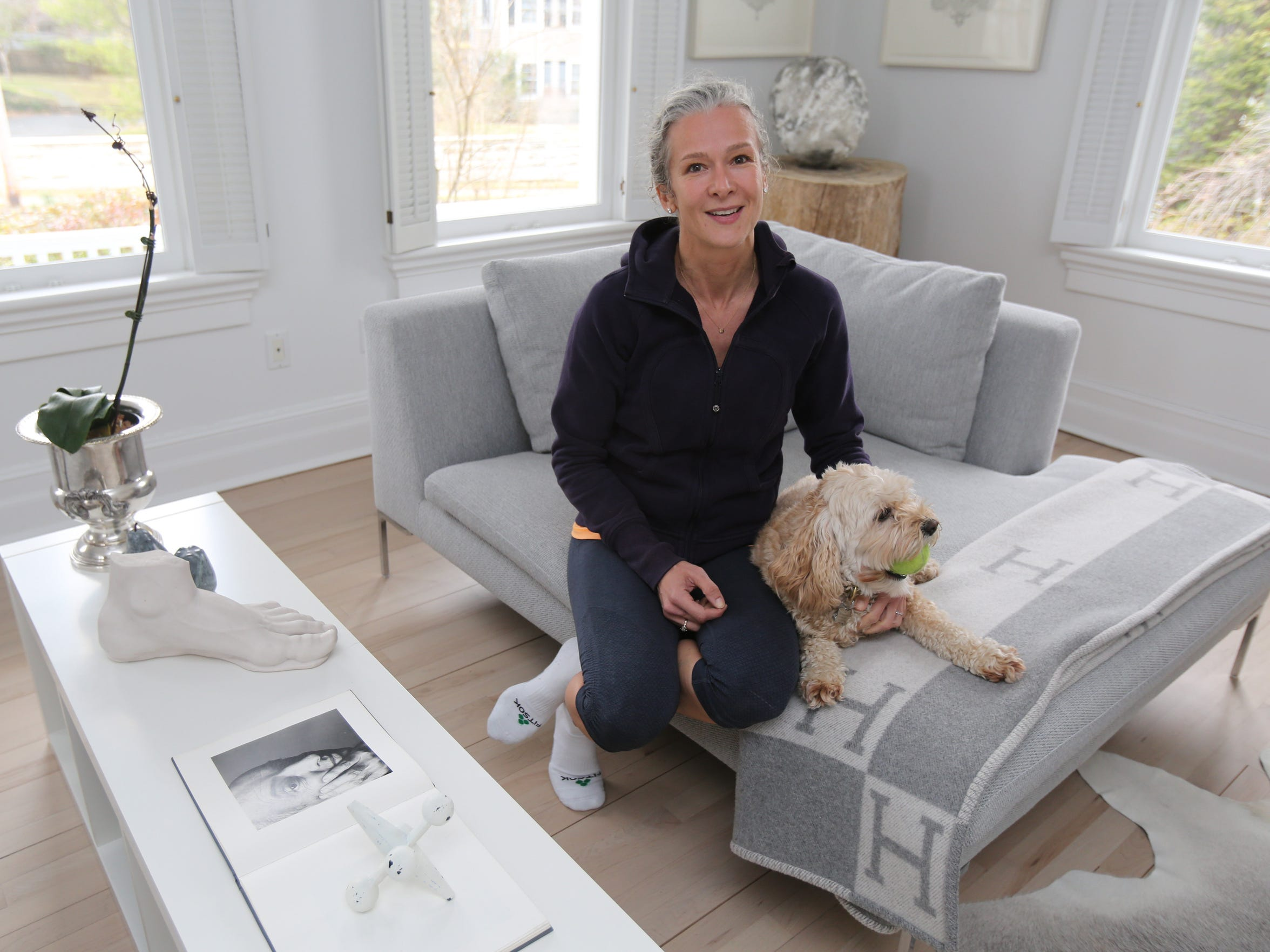 Gillian Pinchin and her dog, Lola, are pictured in