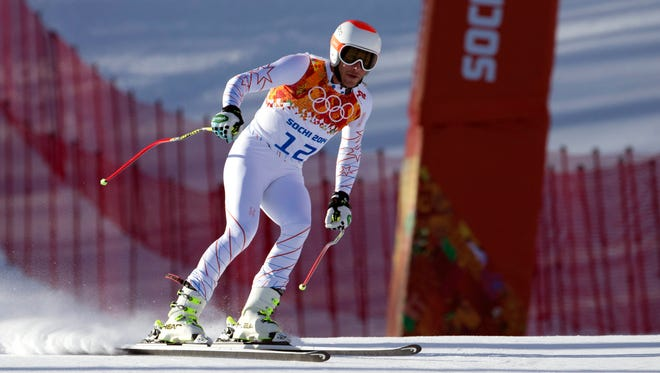 Bode Miller was fastest in two of the three training runs leading to Sunday's downhill final.