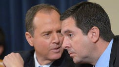 Reps. Adam Schiff, D-Calif., left, and Devin Nunes,
