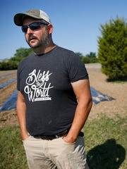 Brandywine Creek Farms Executive Director Jonathan Lawler talks about the new urban farm partnering The Finish Line, Inc. and Brandywine Creek Farms, Thursday, August 23, 2017.