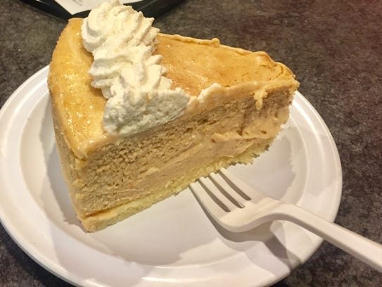 Pumpkin cheesecake was the specialty month-long dessert