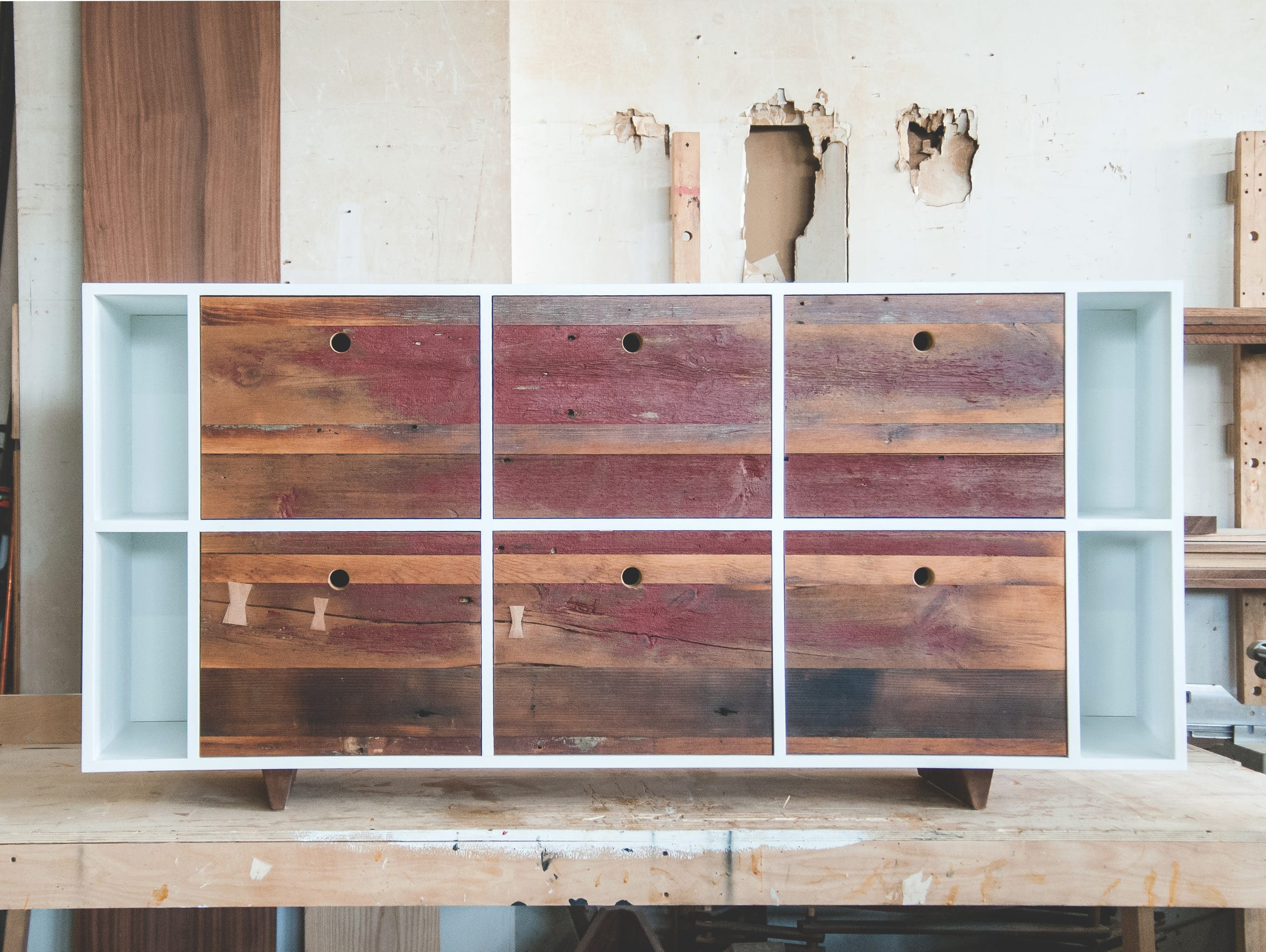Bergen barn wood becomes hot furniture in brooklyn for Local reclaimed wood