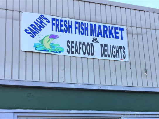 Sarah's Fresh Fish Market & Seafood Delights sells