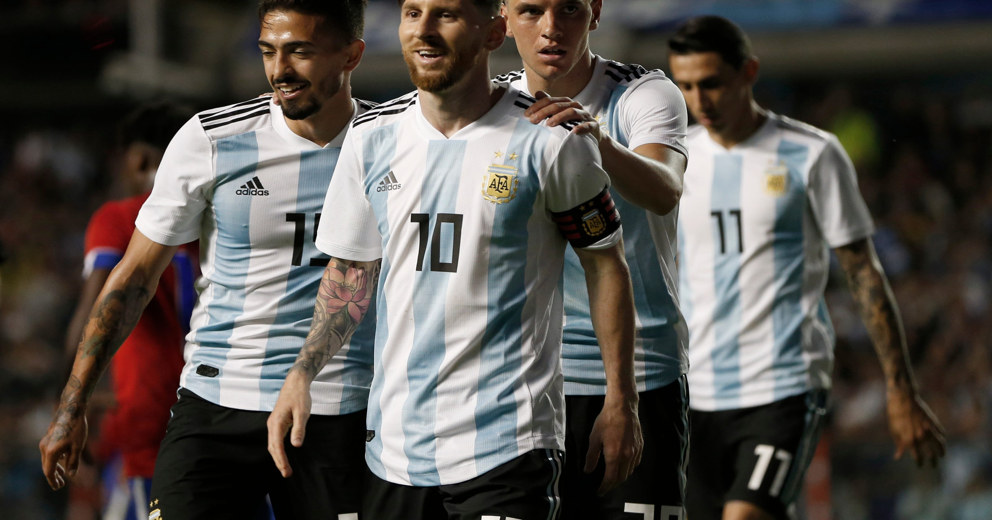1fb3c926cf7 The Latest: Argentina looking up at towering foe Iceland
