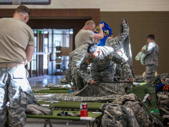 The Guard's 213th Forward Support Company get settled