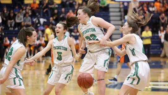 Irvington celebrates their championship win against