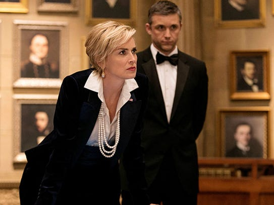Sharon Stone plays the vice president  and Jeff Hephner