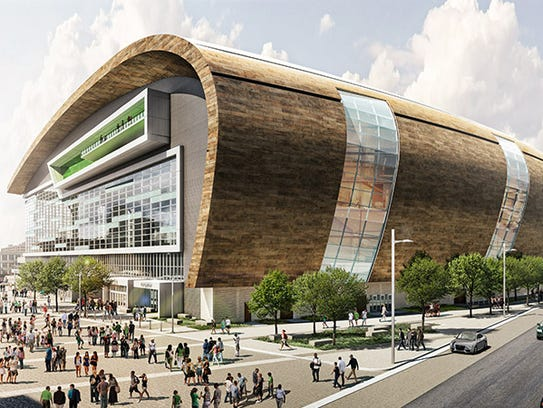 The new Milwaukee Bucks arena takes on a dramatically