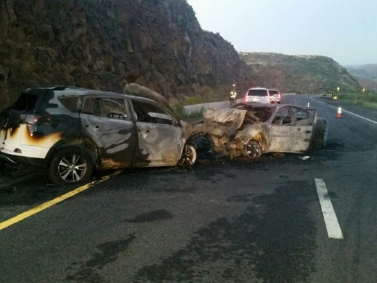 Authorities say bystanders pulled a wrong-way driver