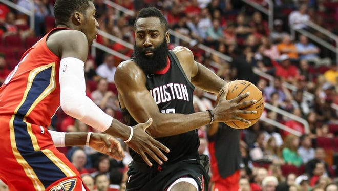 James Harden scored a game-high 27 points for the Rockets.