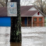 Flood water begins to recede in Montgomery