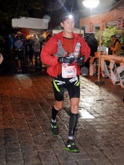 Scott Jurek is seen during the Ultra Trial race, a 163km race around the Mont Blanc crossing France, Italy and Swiss, on August 27, 2011 in Saint-Gervais-les-Bains.