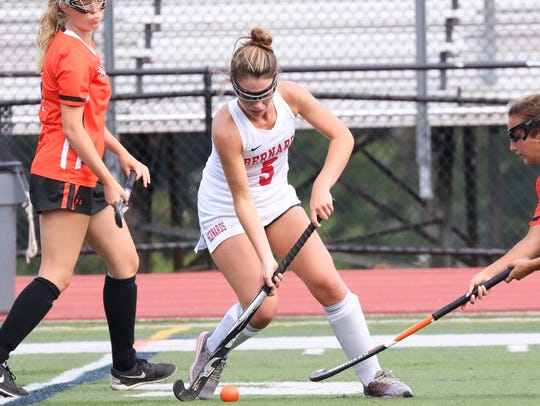 Bernards defender Abby Cawley is the Courier News Field