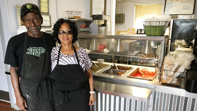 Liz's Meat-n-3 Kitchen: Liz's owner Liz Darden, right, and her husband Bubba Darden, do the cooking at the restaurant.