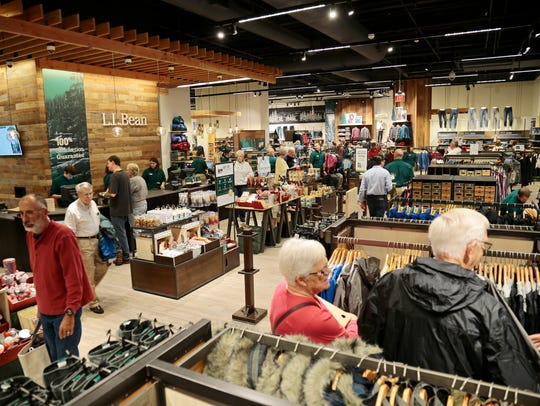 An overview of the interior at the new L.L. Bean location