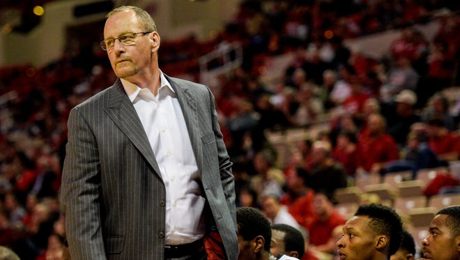 UL coach Bob Marlin paces the sideline during a Dec, 9 win over McNeese State at the Cajundome.
