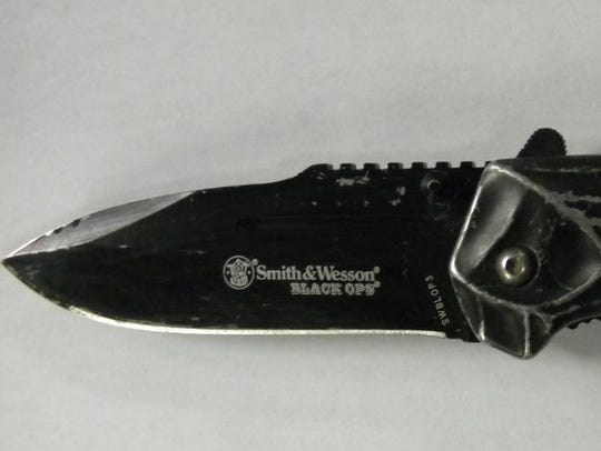 Authorities say this knife belonged to Matthew Whitman