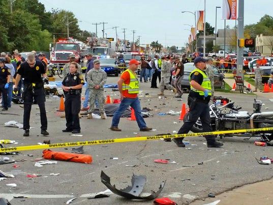 AP HOMECOMING PARADE-CRASH A USA OK