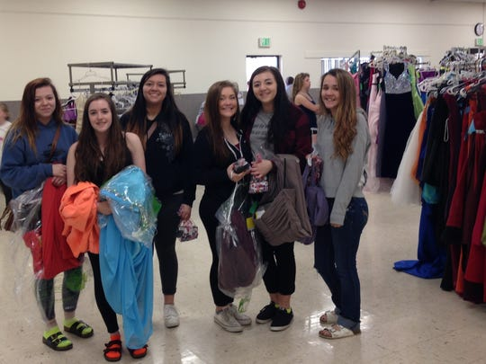 All Dressed Up: enjoying some prom-dress shopping.