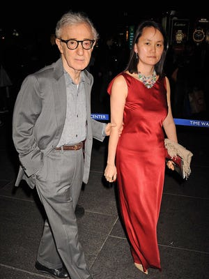 Woody Allen and Soon-Yi Previn are seen on Sept. 24, 2013 in New York City.
